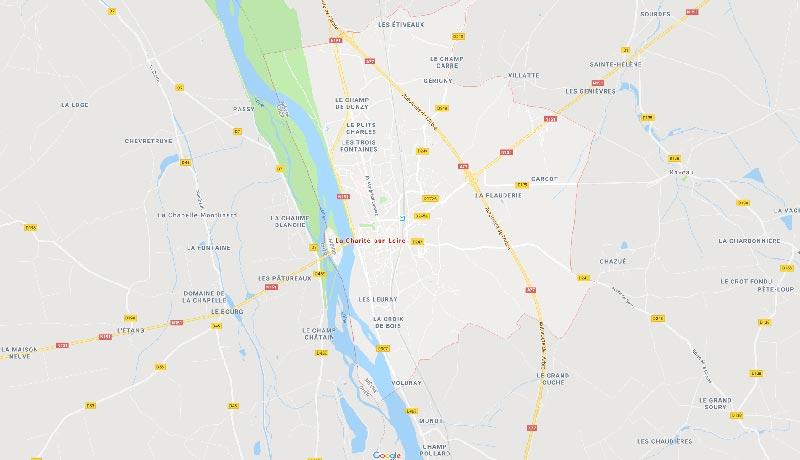 carte de la Charité-sur-Loire
