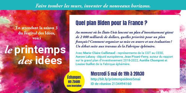 Affiche - Quel plan Biden pour la France ?